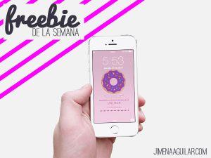 Freebie: Fondo de pantalla para celular - Jimena Aguilar