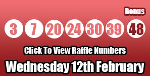 Tonight's #Lotto raffle numbers for Wednesday 12th February will see the jackpot rolled and double the amount of raffle winners for the next game! http://lottorafflenumbers.com/lotto-results-12th-february/