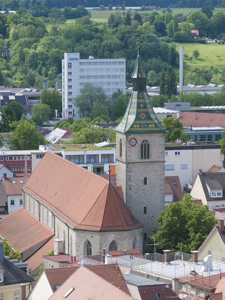 Ravensburg die Sankt Jodok Kirche • im 14. Jahrhundert wurde Sie  von der Stadt Ravensburg und dem Kloster Weißenau gestiftet.