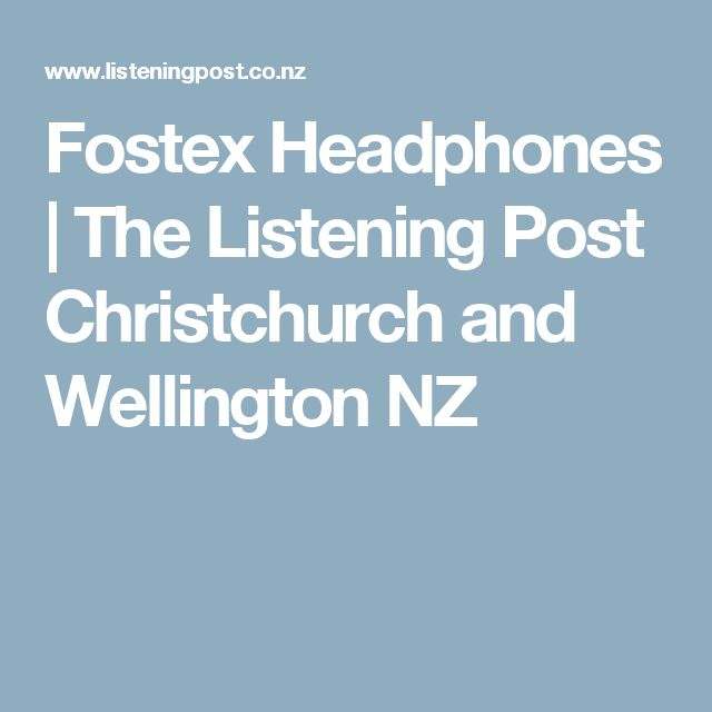 Fostex Headphones | The Listening Post Christchurch and Wellington NZ