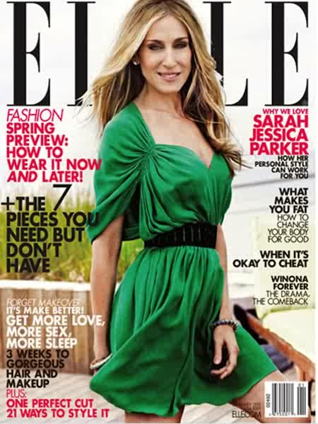 Sarah Jessica Parker, Elle January Cover USA