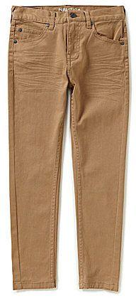 Nautica Big Boys 8-20 Five-Pocket Slim-Fitting Straight-Leg Twill Jeans