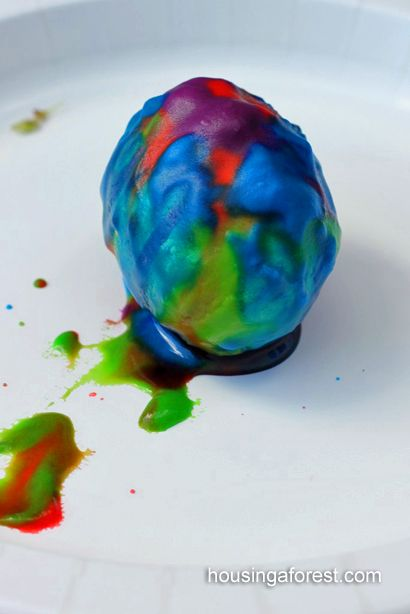 Using a Science Experiment to dye your Easter Eggs - way too cool!  Kids love this!