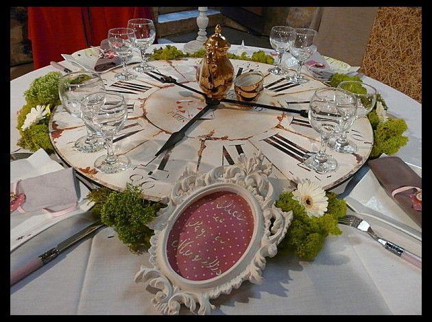 Décoration de table Alice au pays des merveilles