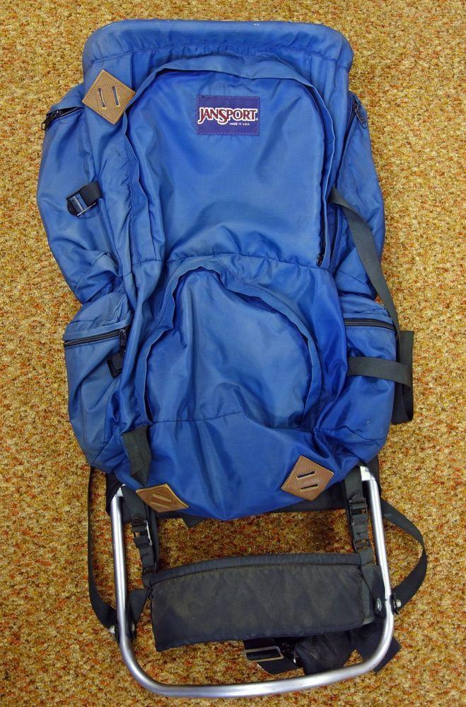 Vintage Jansport External Frame 2 in 1 Backpack Hiking Bag Tall 5\' 6 ...