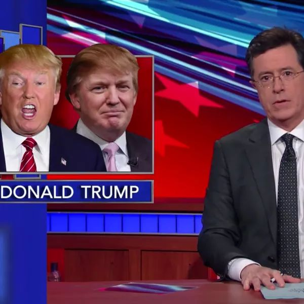 Donald Trump has flip-flopped so much that Stephen Colbert hosted a Trump vs. Trump debate