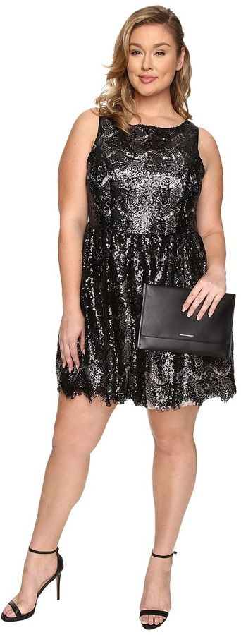 OMG, I love this dress!!  Plus Size Sequin Lace Dress