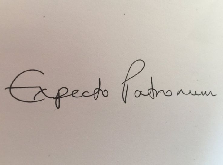 An Expecto Patronum tattoo idea from J.K. Rowling herself.