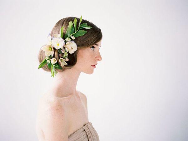 Flowers in Her Hair via oncewed.com