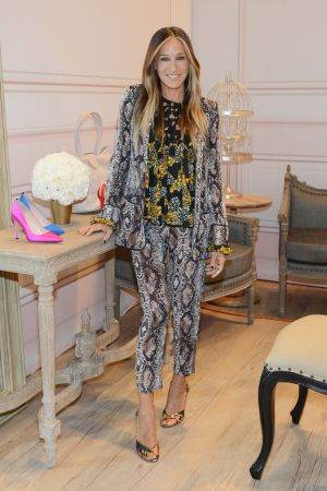 Expect nothing short of sparkle and glam from Sarah Jessica Parker's latest business move. [Denise Truscello/Getty Images for Zappos Couture]
