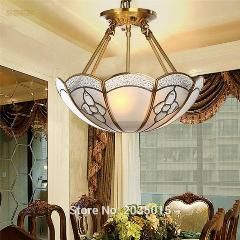 [ $36 OFF ] European Pastoral Copper Chandelier For Dining Room Living Room Bedroom Study Room American Style Classic Lamp 1692