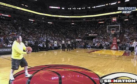 Fan at Miami Heat game hits half-court hook shot, wins $75,000, gets joy-tackled by LeBron