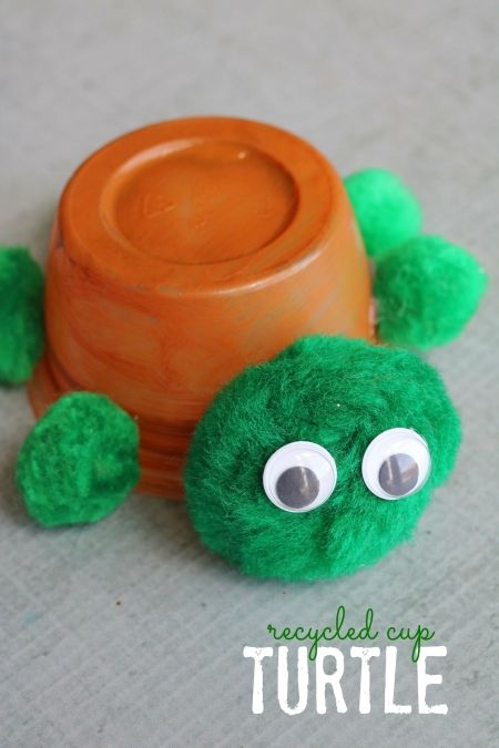 Recycled Cup Turtle Kid Craft Idea