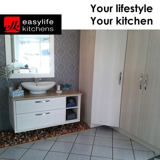 Whether you are looking for a bathroom vanity cupboard or built in cupboards for the rest of your home, Easylife Kitchens George will design and install to your specifications. #homedecor #lifestyle #designercupboards