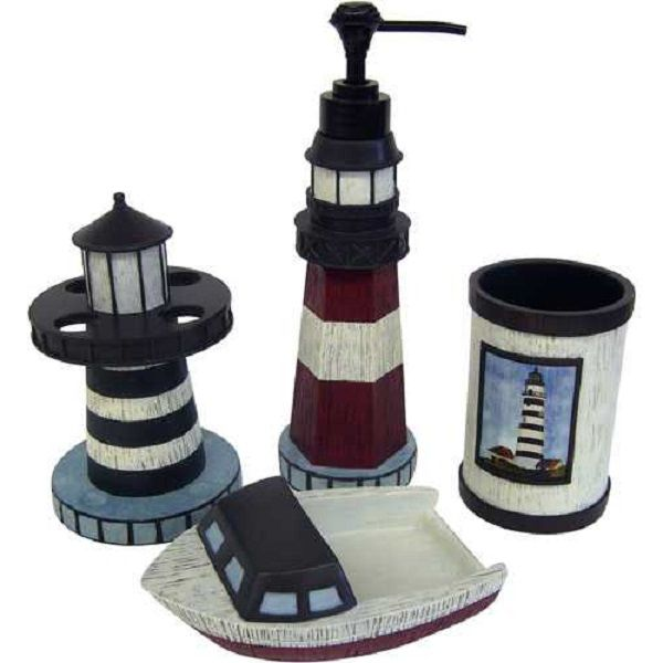 Bathroom on pinterest nautical theme bathroom lighthouse decor and