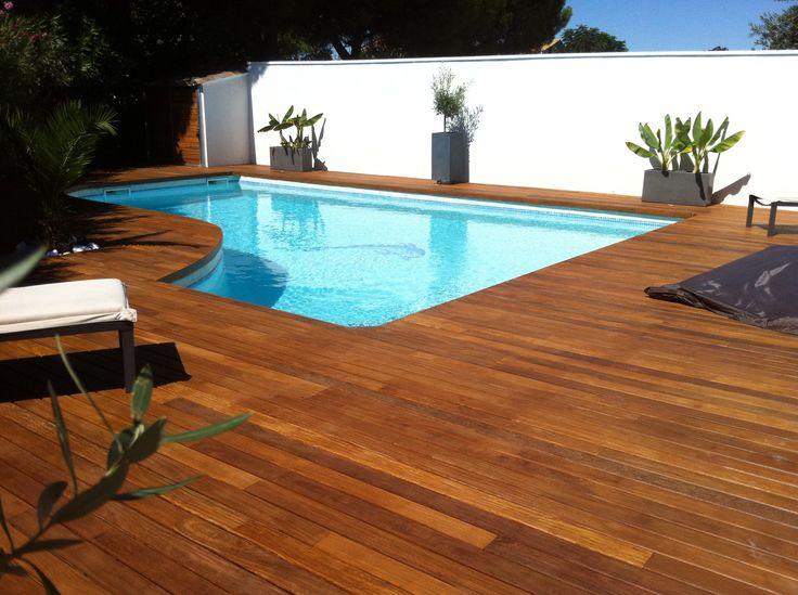 1000 id es sur le th me piscine cach e sur pinterest b che de piscine pisc - Margelle piscine bois exotique ...