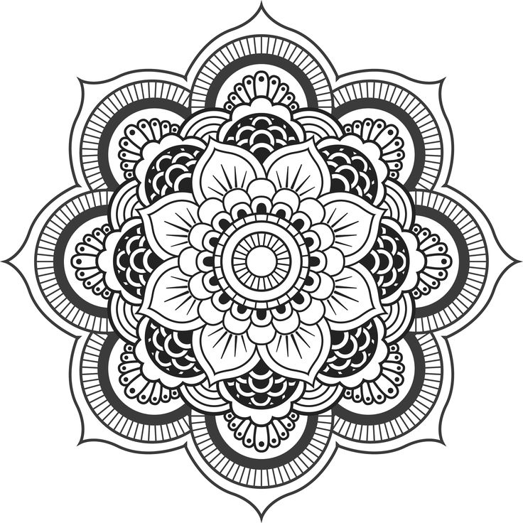 668 best Mandalas images on Pinterest | Coloring books, Coloring ...