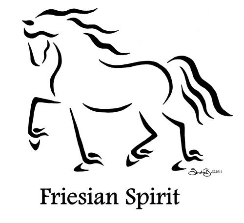 Friesian2.jpg Equine Calligraphy Designs by Sandra Beaulieu — Begin the Dance with Sandra Beaulieu - http://beginthedance.com/design-gallery-1/