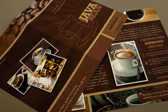 Cozy Coffee Shop Brochure- Ideal for a coffee shop or cafe, this - coffee shop brochure template