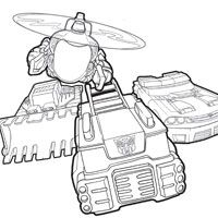Rescue Bots Coloring Page dominic