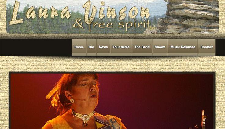 "Website design ""Laura Vinson & Free Spirit"""
