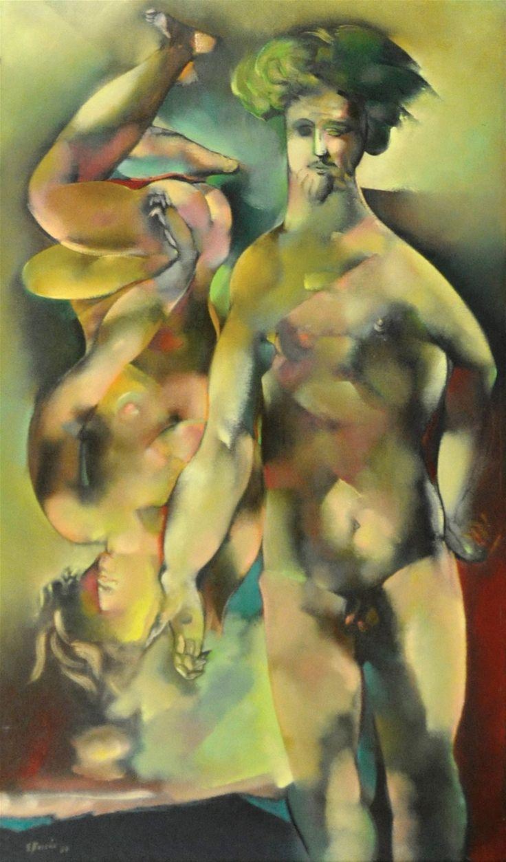 Boccia 1964 First Man, First Woman. Aronson Gallery : Saint Louis University SLUMA : SLU