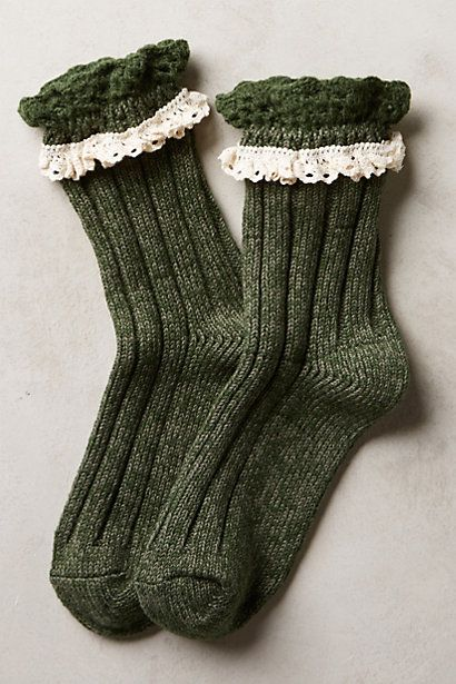 Sweet warm and cozy holiday gift // marble and lace crew socks #anthrofave http://rstyle.me/n/sjye6pdpe