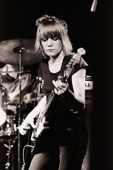 Tina Weymouth of Talking Heads. I love to see women who are the only female band member. One day, one day...