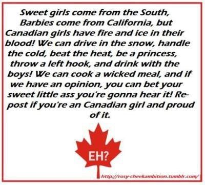 I'm a proud Canadian girl - but I suck like crap at handling the cold....