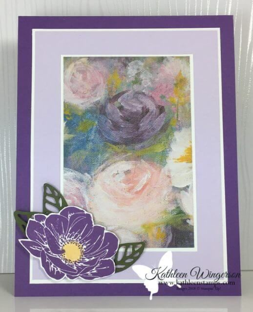Monet inspired u2014 Floral Essence Card Learn to create this beautiful Monet inspired card using the Floral Essence stamp set and Perennial Essence ...