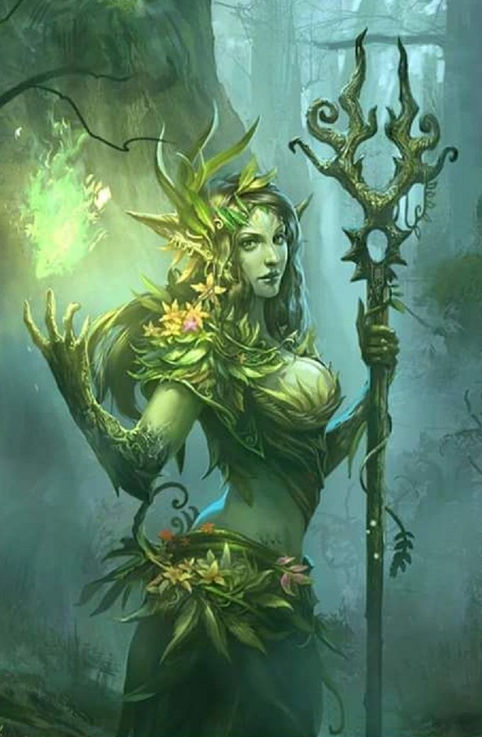 Druid Staff Google Meklesana Fantasy Art Women Fantasy Art