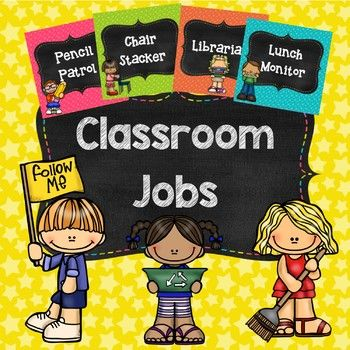 Help manage your class and provide responsibilities with these classroom job labels! This pack contains 30 classroom job labels and 6 editable labels so you can create your own. I have also included 2 posters that could be displayed (Our Class Jobs + Our