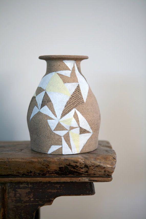 Hand Painted UpCycled Vase van CDubina op Etsy, $30.00