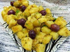 batata mchermla, pommes de terre a la charmoula