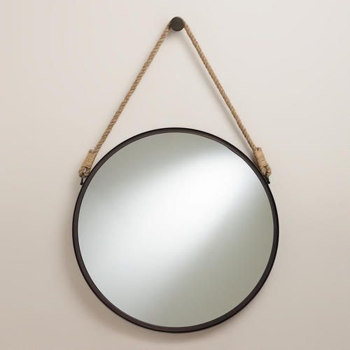 One of my favorite discoveries at WorldMarket.com: Fynn Captain's Mirror  for the 1/2 bath