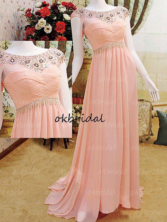 peach prom dresses long prom dress formal prom dress by okbridal, $198.00