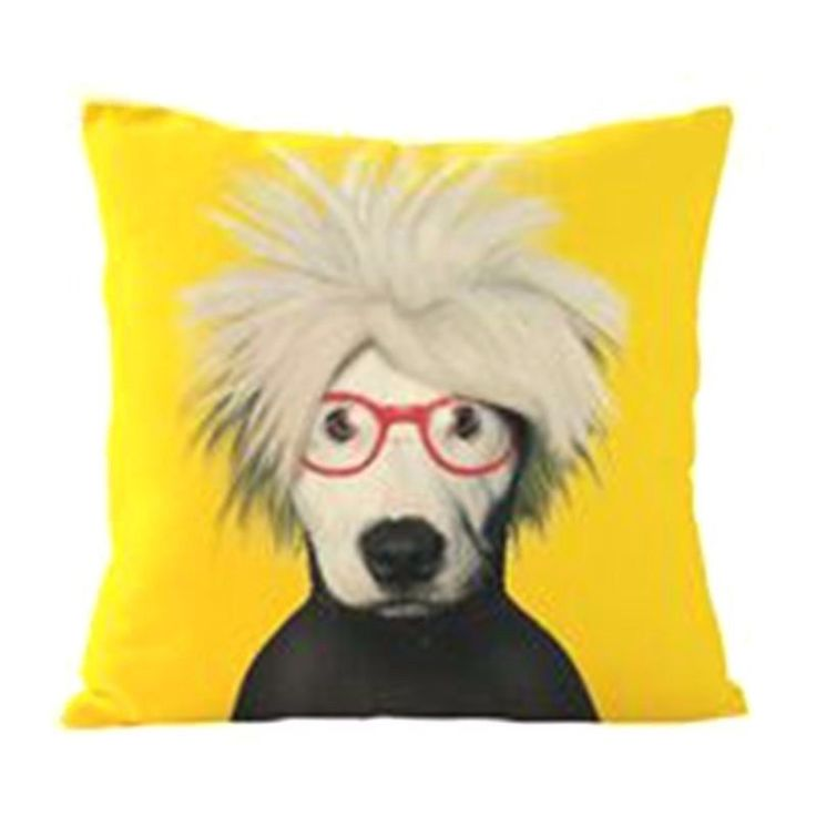 CUSHION COVER , DOG with RED GLASSES 43 cm x 43 cm in Home & Garden, Home Décor, Cushions, Decorative Pillows | eBay!