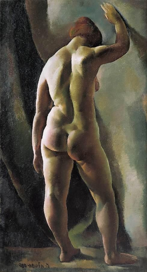 Aba-Novák, Vilmos (1894 - 1941)  Nude Study  Date: 1921: Oil On Canvas, Vilmo Aba Novák, Art Nudes, Vilmo Abanovák, Aba Novák Hungary, Abanovak 18941941, Fine Art Paintings, Nudes Study, Erotic Art