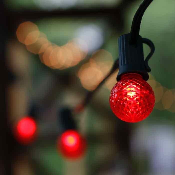 Red G30 Led Bulbs E12 Bases Led Bulb Bulb Christmas Light Bulbs