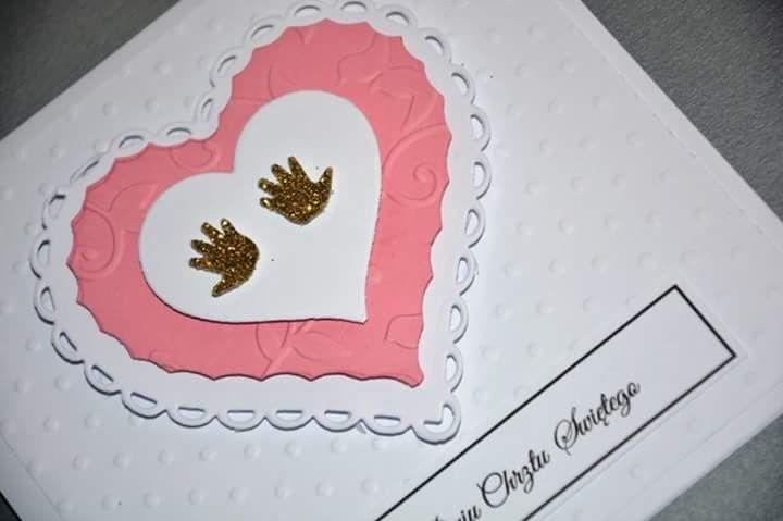 www.liwmaart.pl #zaproszenia #komunia #chrzest #serce #rączki #nóżki #dziecko #bobas #dziewczynka #christening #communion #invitation #heart