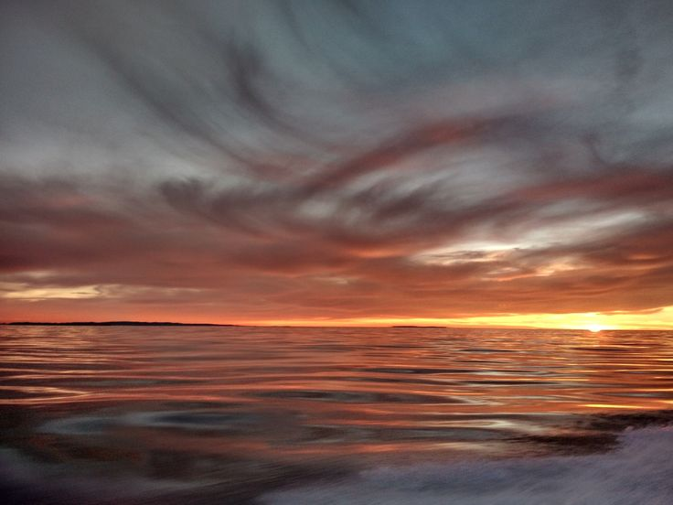 of the Santa Barbara channel at sunset