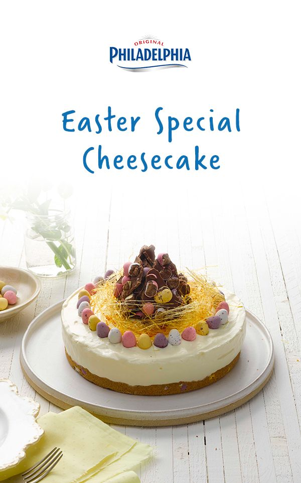 Made with creamy Philadelphia and decorated with chocolate bark, a caramel nest and those all-important chocolate eggs.