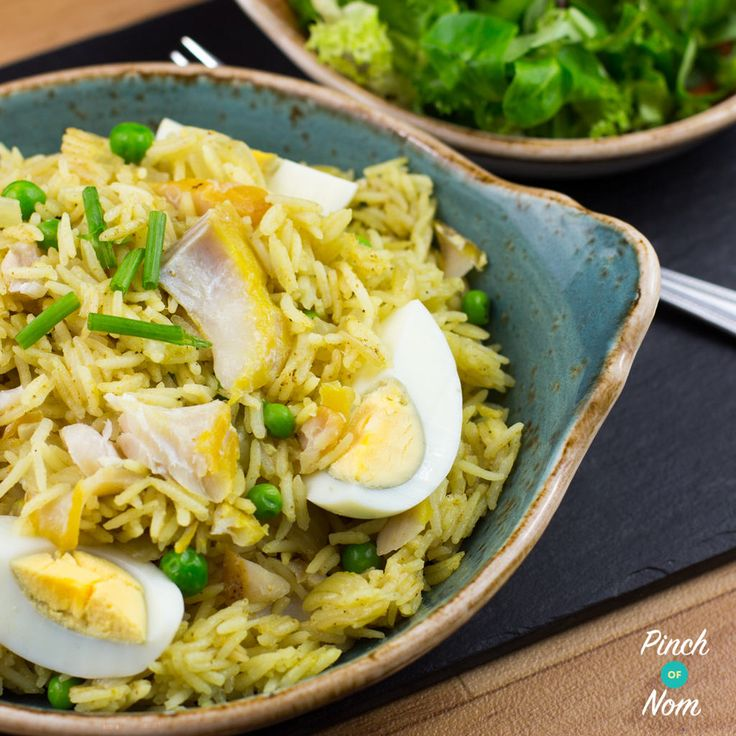 """So what can you do with Smoked Haddock? Syn free Kedgeree of course! Let's put that saying """"if it swims it slims"""" to the test! We went shopping in Morrisons tonight and picked up a load of yellow label bargains!As part of ourmega haul we picked up some Smoked Haddock for just £1.99 for 4…"""