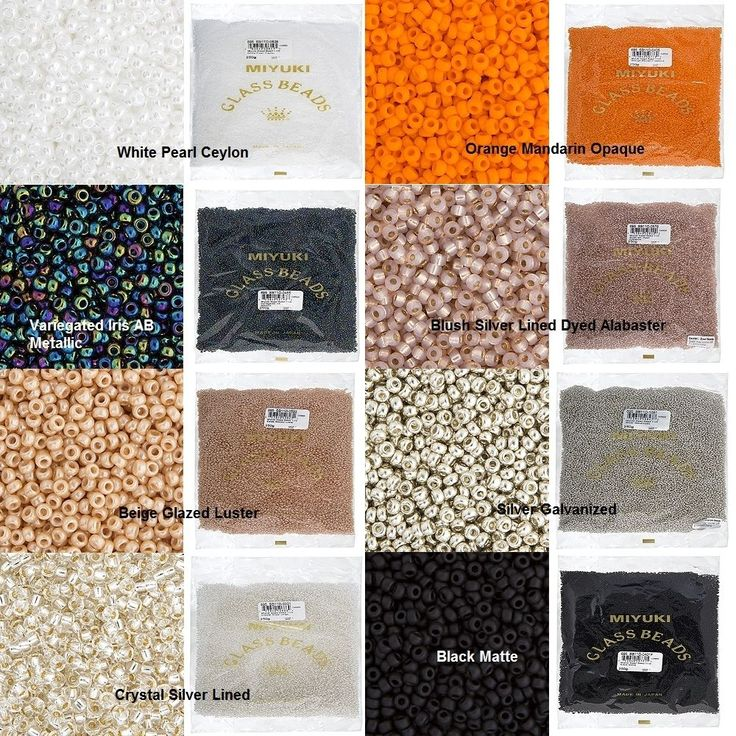 Miyuki Seed Beads - 250g Factory Bags - Size 11/0 - Various Colors and Styles