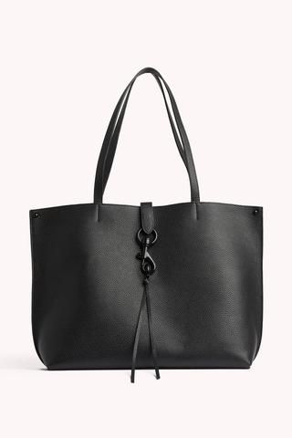 Style This bag is not eligible for the current promotion. Leather Black hardware X X 1 Exterior back slide pocket 1 Interior back slide pocket Magnetic snap closure Unlined Imported Black Leather Tote, Black Tote Bag, Leather Crossbody, Pebbled Leather, Black Designer Bags, Designer Totes, Designer Handbags, Tote Handbags, Purses And Handbags