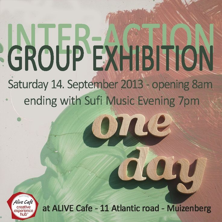 One Day Only: Group Exhibition 'Inter-Action' : Sat 14th September in Muizenberg