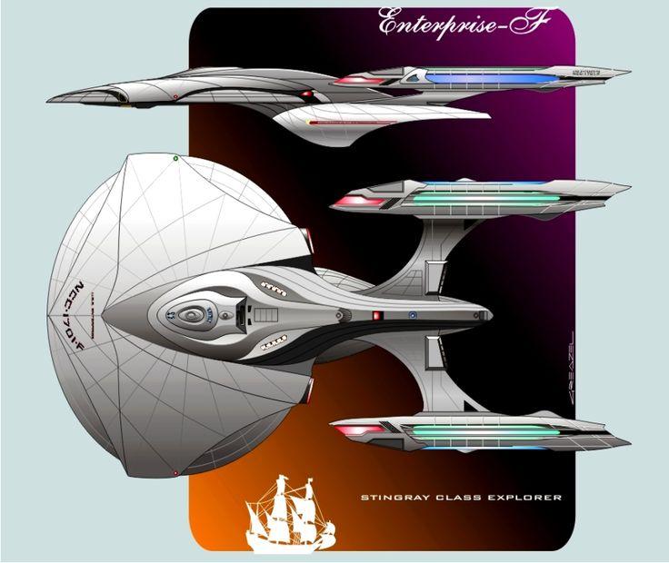 Starship concept for cbs cryptic studios star trek online for Wohnung star trek design