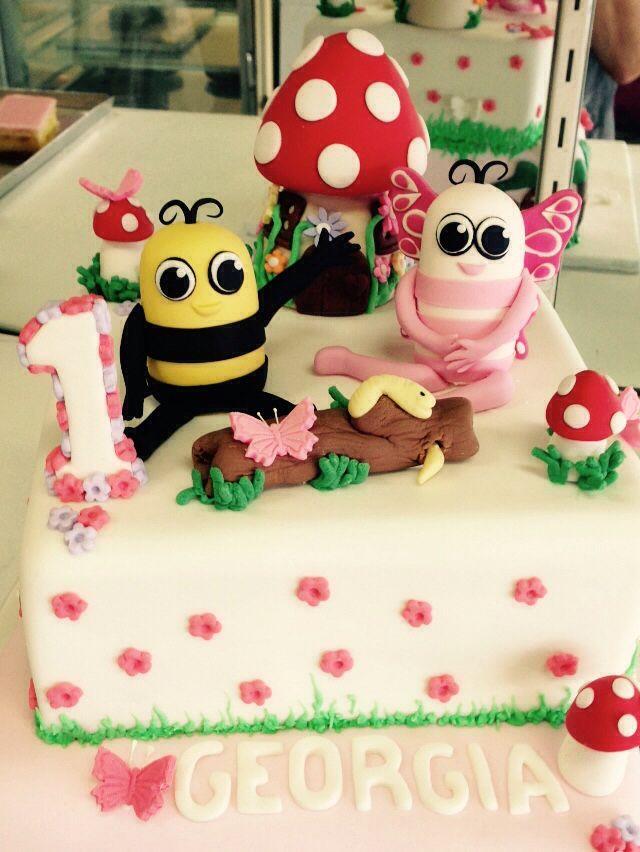 Didi and B garden cake topper