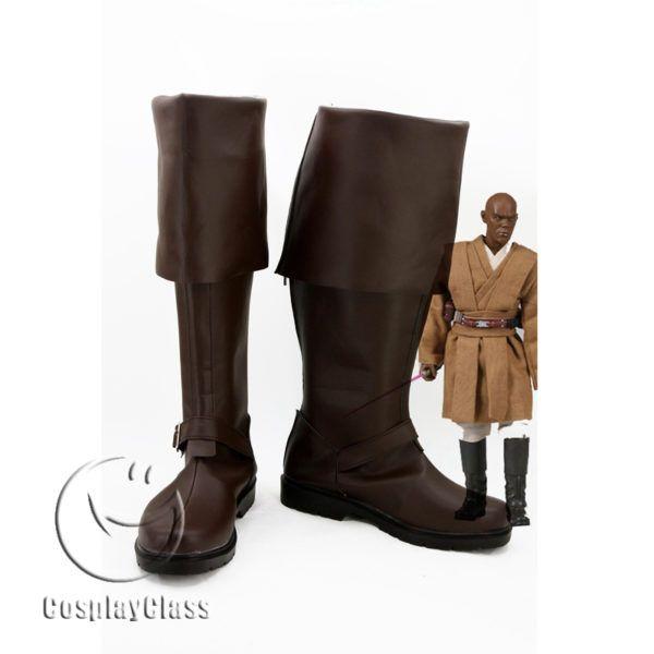 Star Wars: Episode III – Revenge of the Sith Mace Windu Cosplay Boots – CosplayClass  #StarWarsEpisodeIIIRevengeoftheSith #MaceWinduCosplay #Boots  #cosplayclass