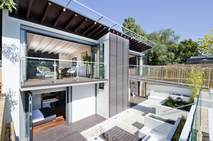 Modern House Style With Glass Pannel Balcony